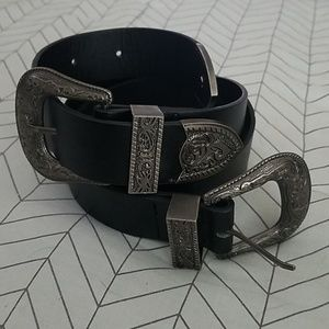 Vintage Boho Double Buckle Belt - Small